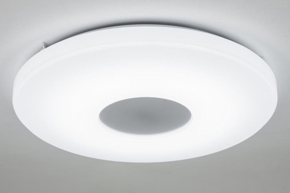 Plafondlamp 10449: modern, design, wit, kunststof #0