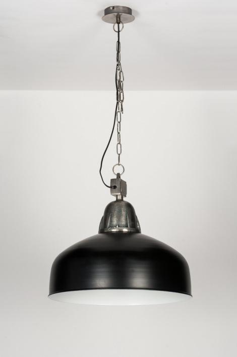 pendelleuchte 10451 industrielook coole lampen grob schwarz metall. Black Bedroom Furniture Sets. Home Design Ideas
