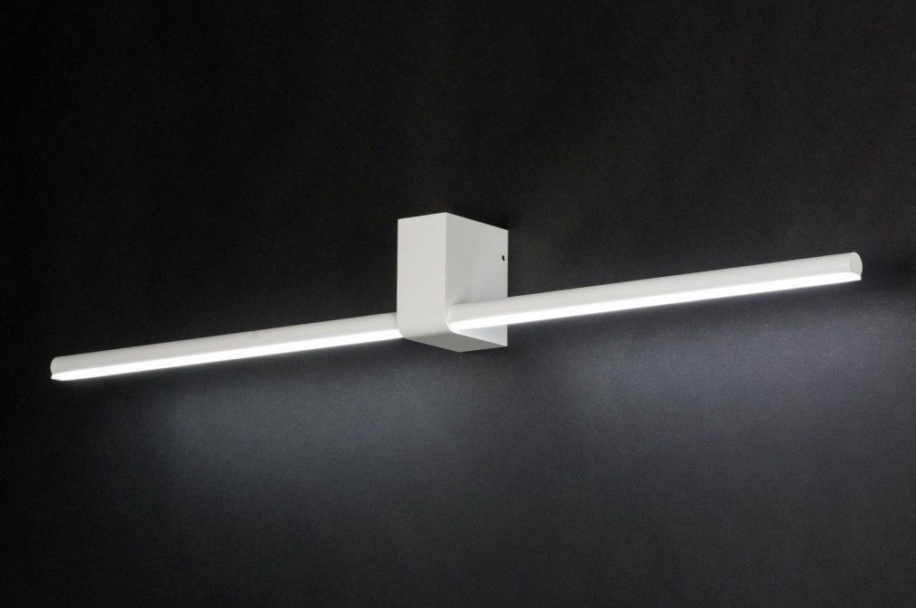 Wandlamp 10456: modern, design, wit, mat #0