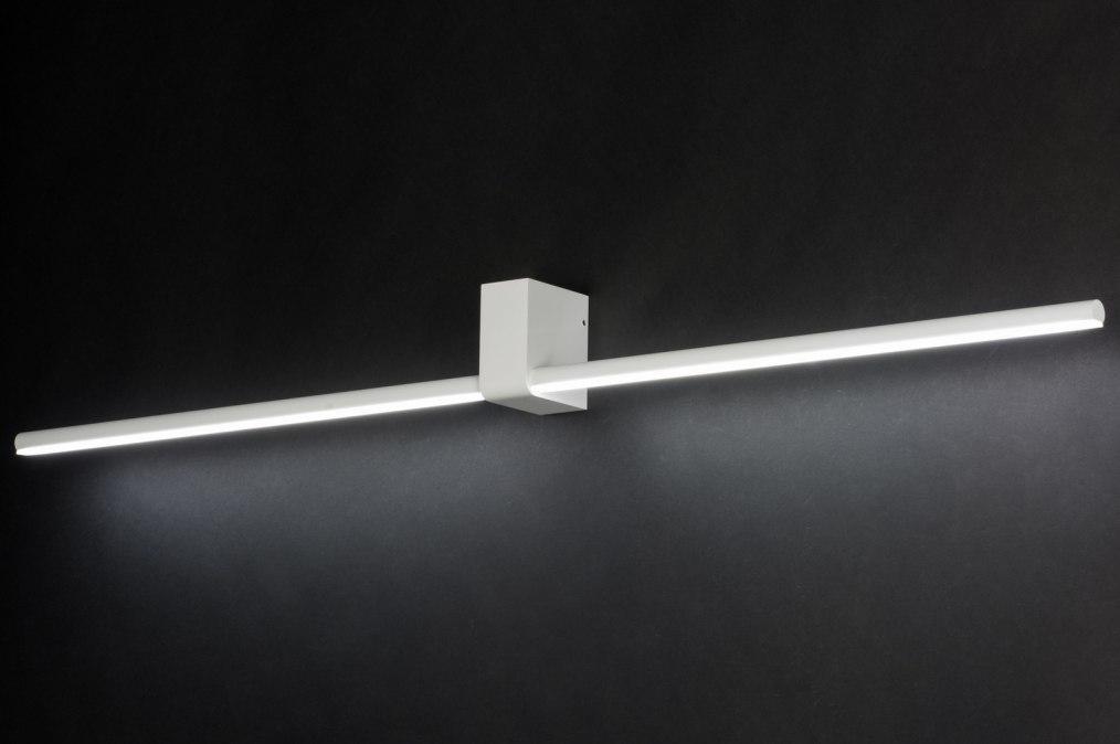 Wandlamp 10457: modern, design, wit, mat #0