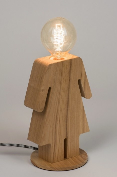 Tafellamp 10605: design, landelijk, rustiek, modern #0