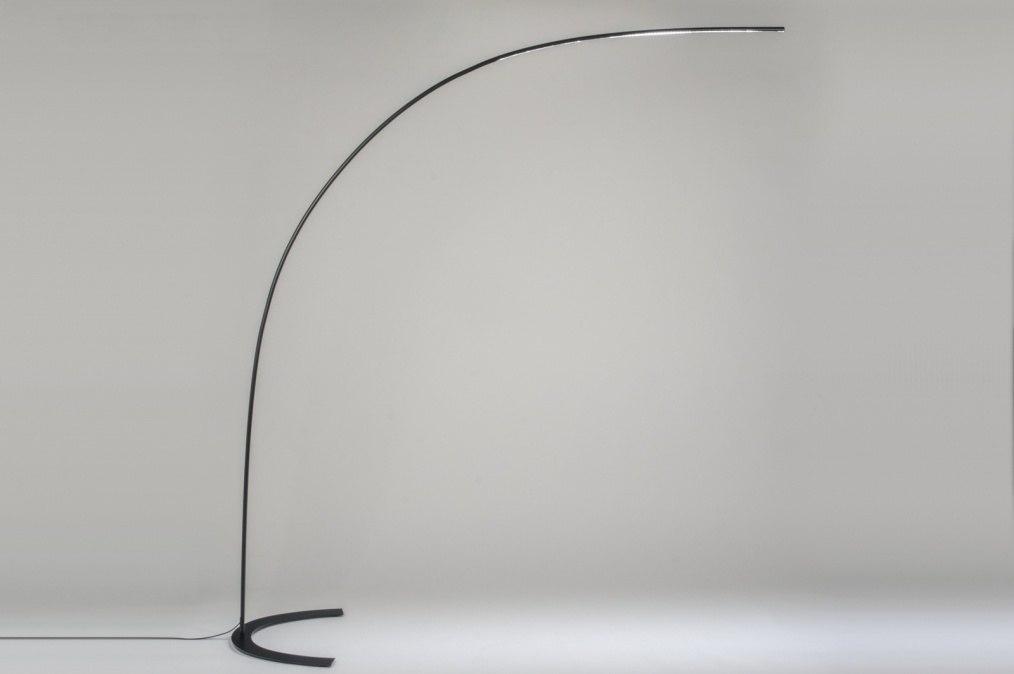 Staande lamp 10662: modern design zwart mat