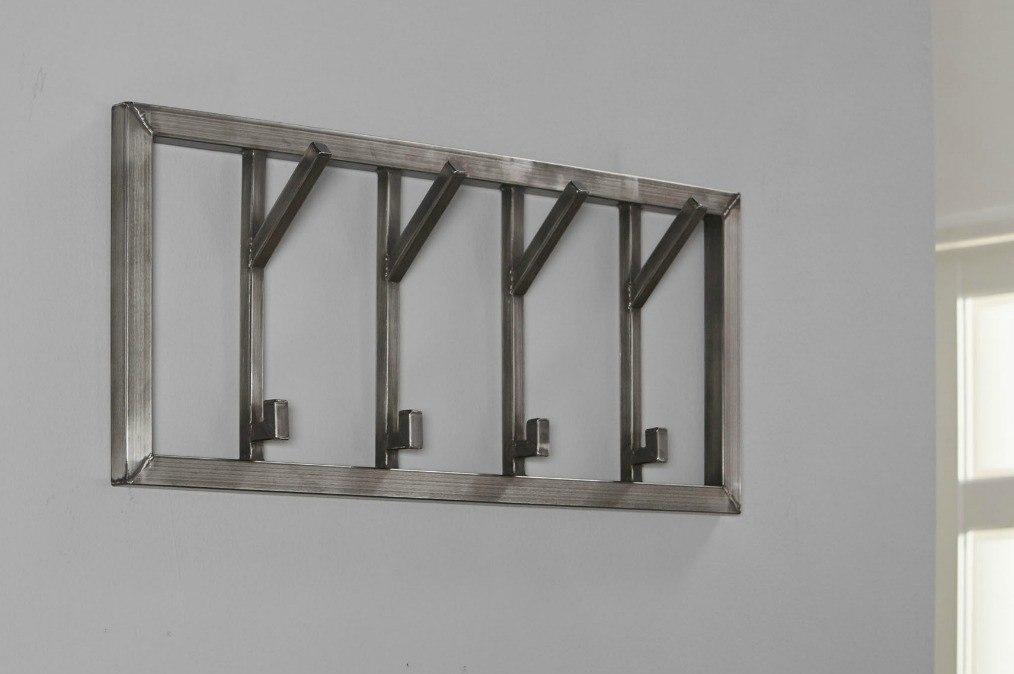 Kapstok 10702: modern, stoer, raw, staal rvs #0