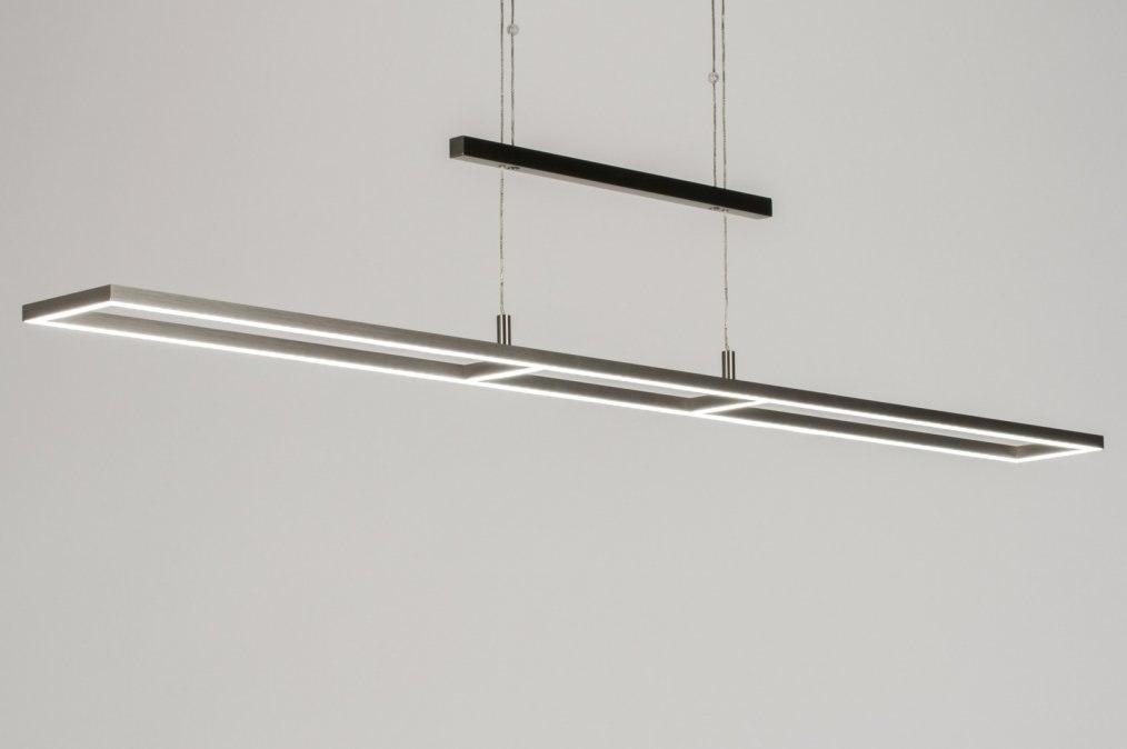 Suspension 10838: design, moderne, acier poli, acier #0