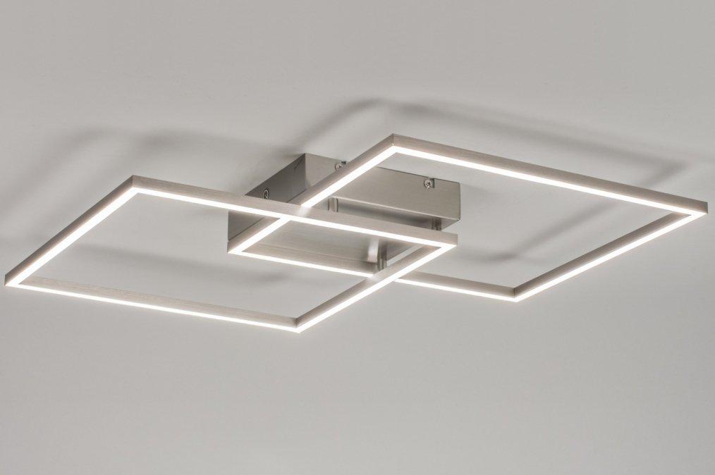 Deckenleuchte 10840 modern design stahlgrau stahl for Plafondverlichting design
