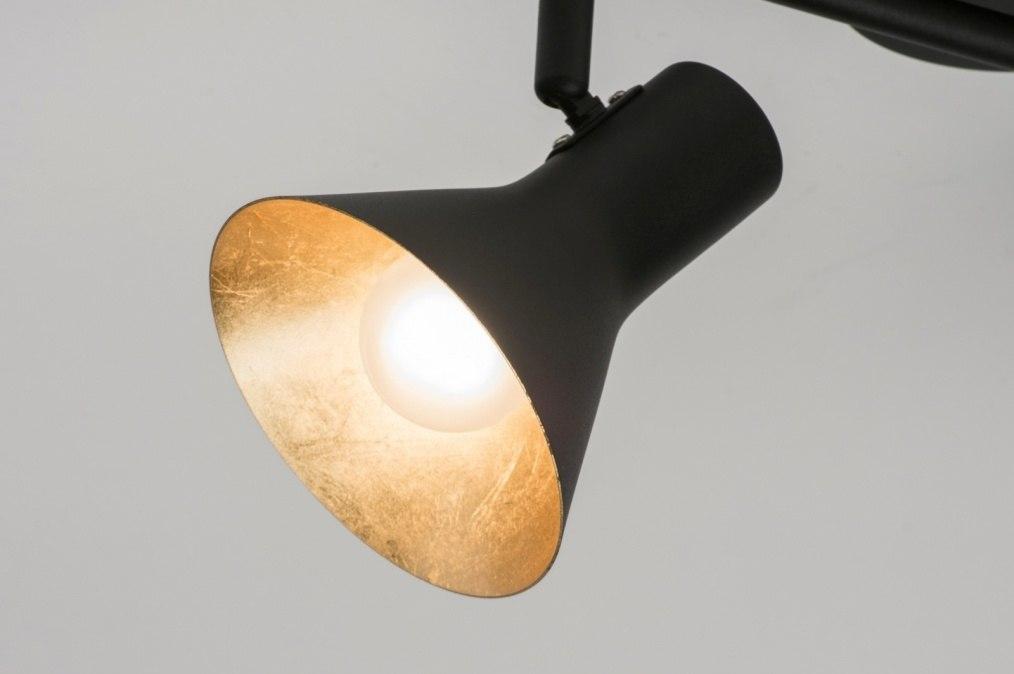 deckenleuchte 10999 gold schwarz matt metall. Black Bedroom Furniture Sets. Home Design Ideas