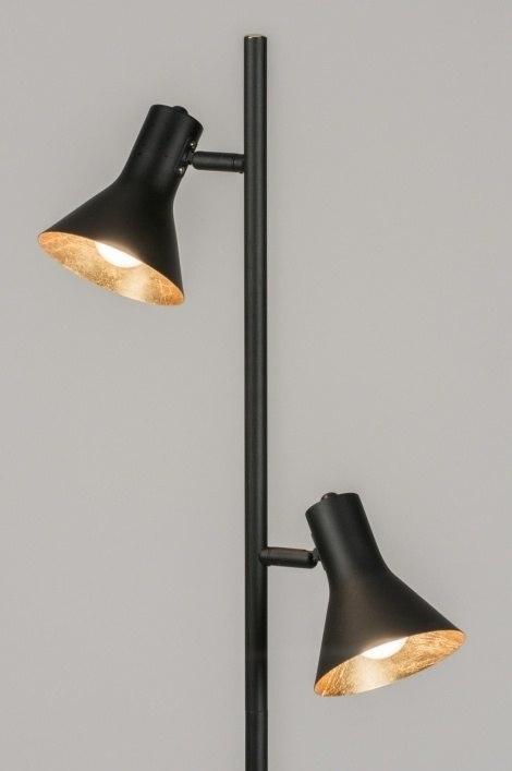 Vloerlamp 11003: modern, goud, zwart, mat #0