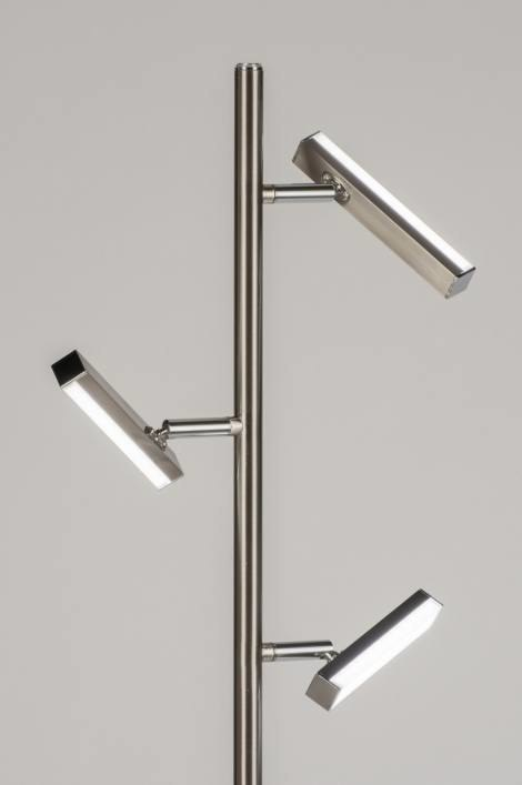 Vloerlamp 11024: modern, design, staalgrijs, staal rvs #0