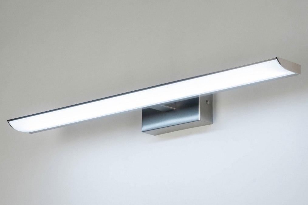 Wandlamp 11038: modern, staalgrijs, metaal, staal rvs #0