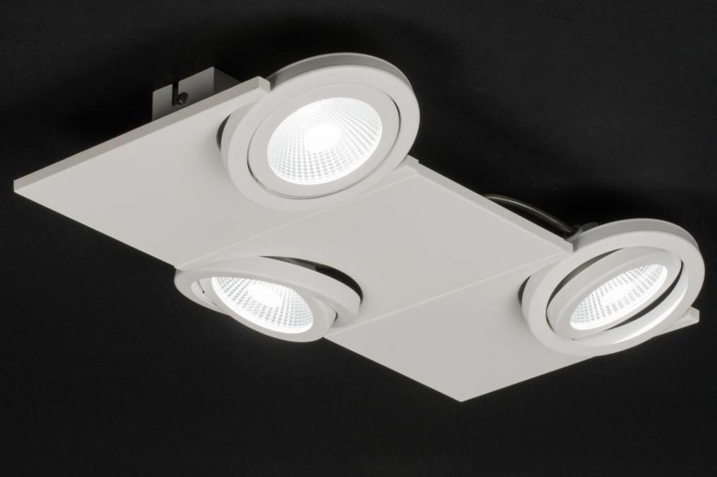 Plafondlamp 11060: modern, design, wit, mat #0