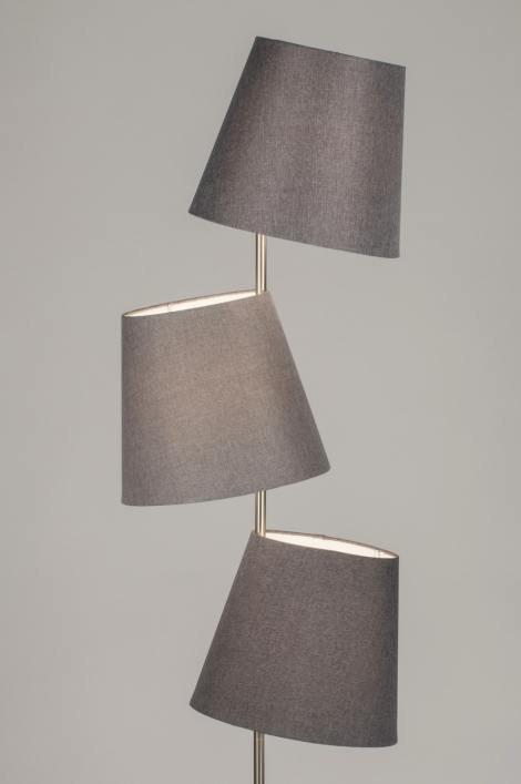 Vloerlamp 11153: modern, landelijk, rustiek, grijs #0