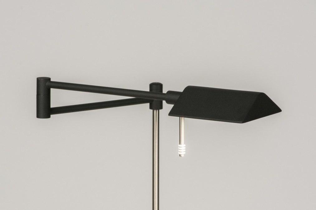 Vloerlamp 11279: modern, eigentijds klassiek, metaal, zwart #0