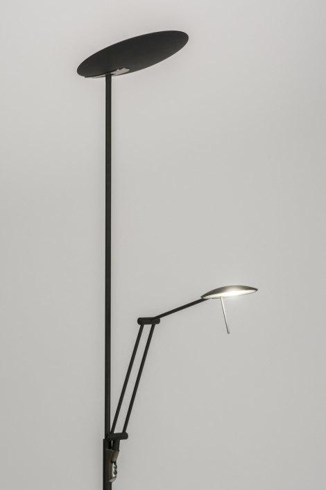 Vloerlamp 11280: modern, design, zwart, mat #0