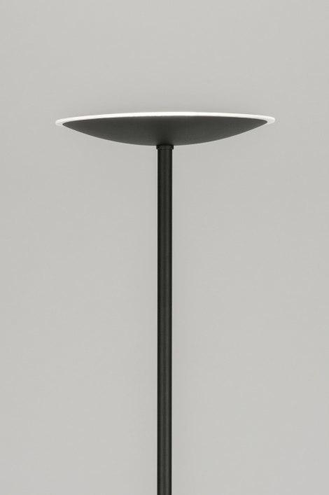 Vloerlamp 11282: modern, eigentijds klassiek, zwart, mat #0