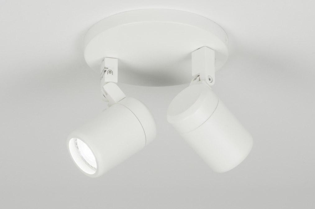 Plafondlamp 11306: modern, wit, mat, metaal #0
