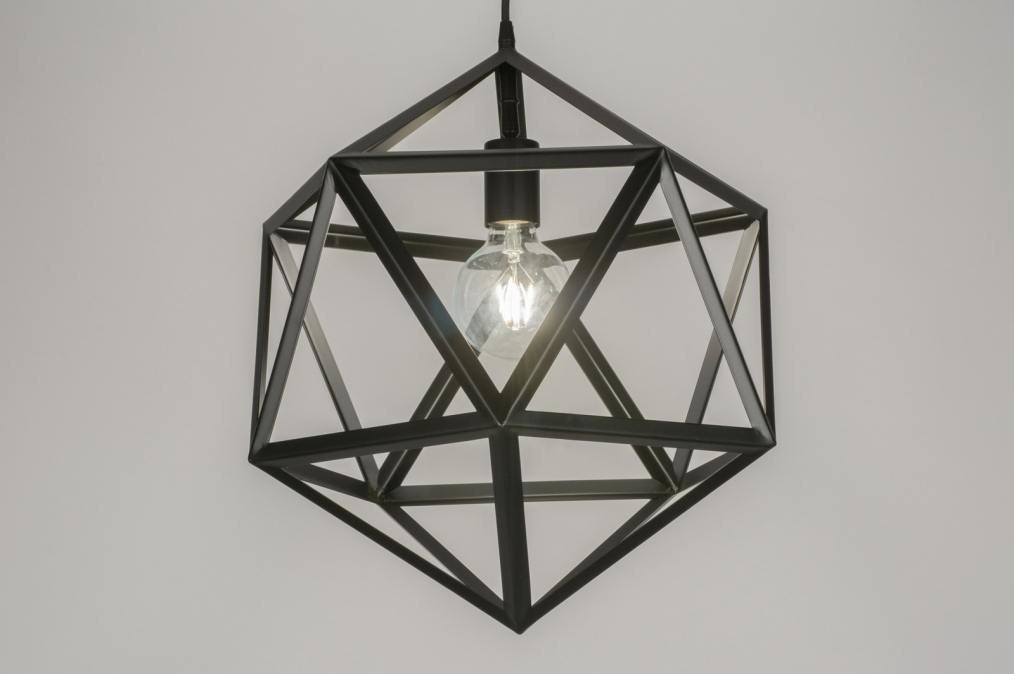 Hanglamp 11369: modern, design, zwart, metaal #0