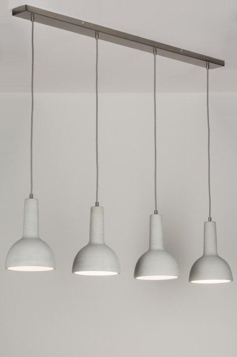pendelleuchte 11373 modern coole lampen grob betongrau beton. Black Bedroom Furniture Sets. Home Design Ideas