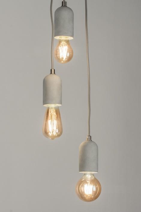 hanglamp 11374 modern industrie look stoere lampen. Black Bedroom Furniture Sets. Home Design Ideas