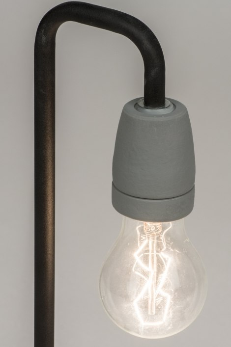 tischleuchte 11477 modern industrielook coole lampen grob betongrau. Black Bedroom Furniture Sets. Home Design Ideas