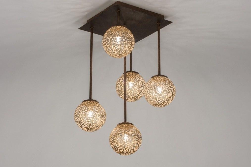 Plafondlamp 11491: klassiek, eigentijds klassiek, brons, roestbrons #0