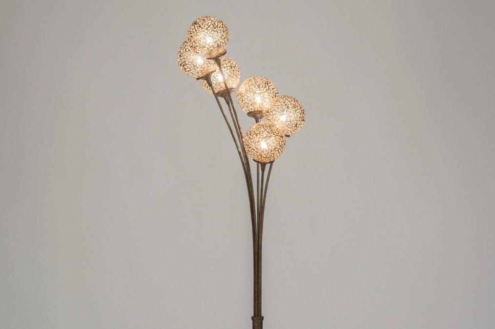 Vloerlamp 11494: klassiek, eigentijds klassiek, bruin, brons roest bruin #0