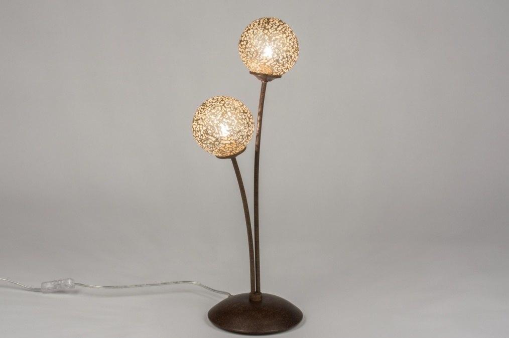 Tafellamp 11495: klassiek, eigentijds klassiek, brons, roestbrons #0