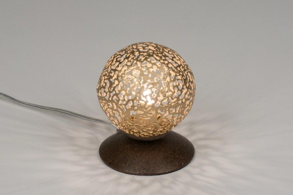 Tafellamp 11496: klassiek, eigentijds klassiek, bruin, brons roest bruin #0