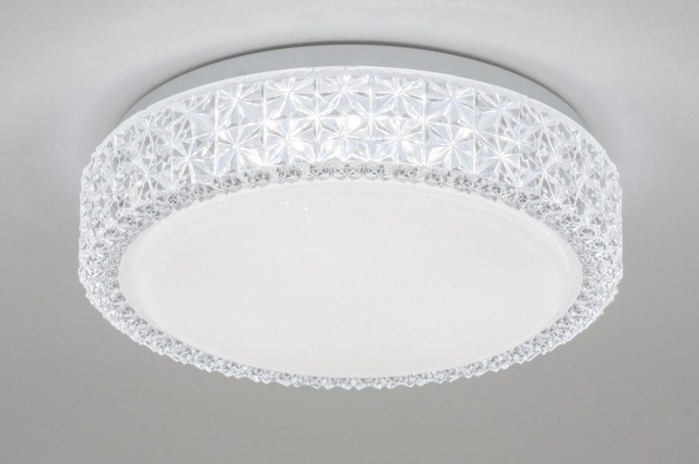 Plafondlamp 11504: wit, kunststof, acrylaat kunststofglas, kristal #0