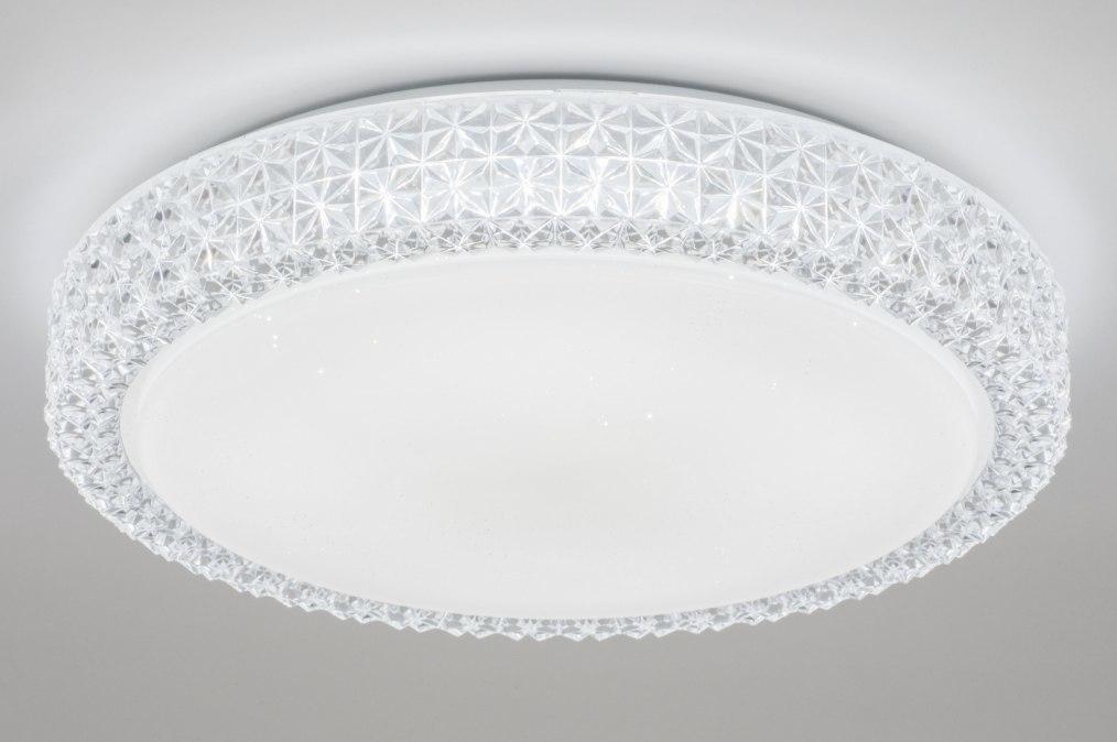 Plafondlamp 11505: wit, kunststof, acrylaat kunststofglas, kristal #0