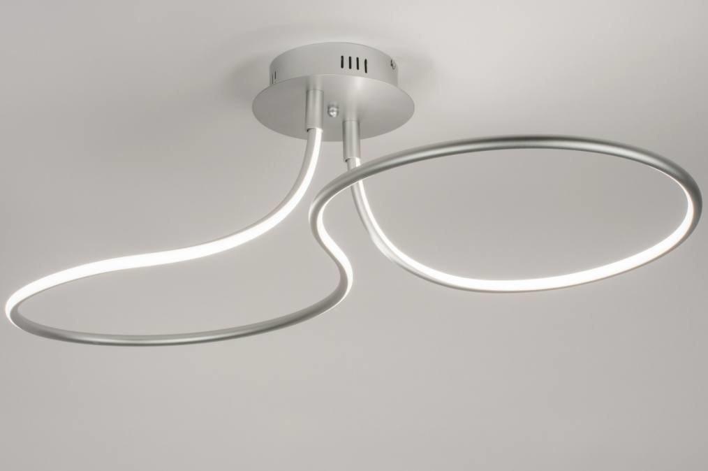 Plafondlamp 11536: modern, design, aluminium, aluminium #0