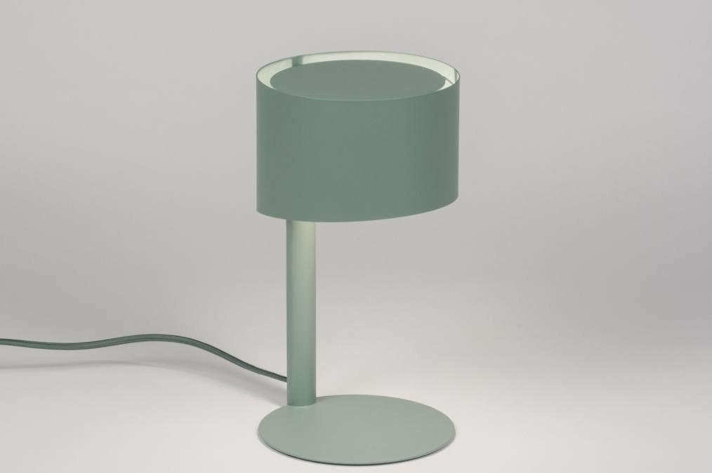 Tafellamp 11588: modern, blauw, groen, metaal #0