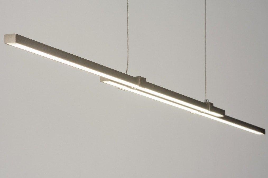 Hanglamp 11604: modern, design, staalgrijs, staal rvs #0
