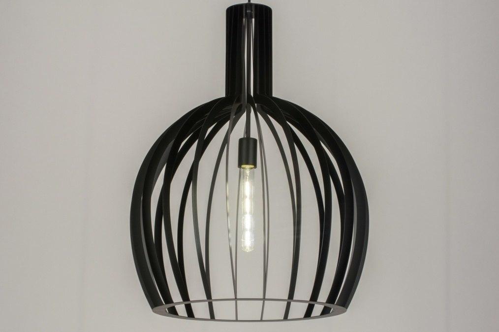 Hanglamp 11605: modern, zwart, mat, metaal #0