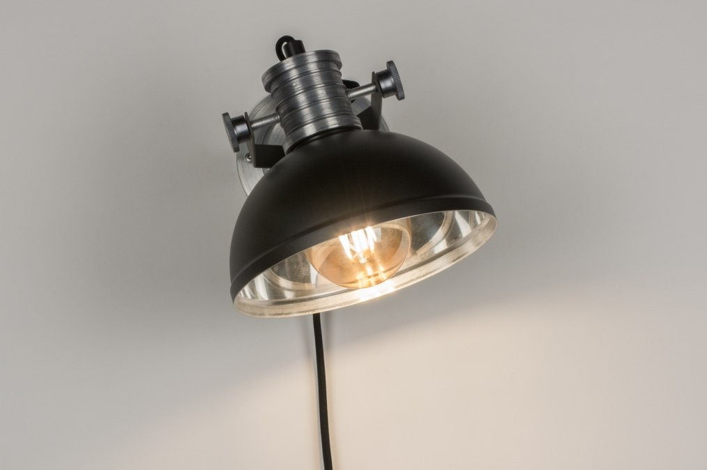 wandleuchte 11619 modern industrielook coole lampen grob anthrazit. Black Bedroom Furniture Sets. Home Design Ideas