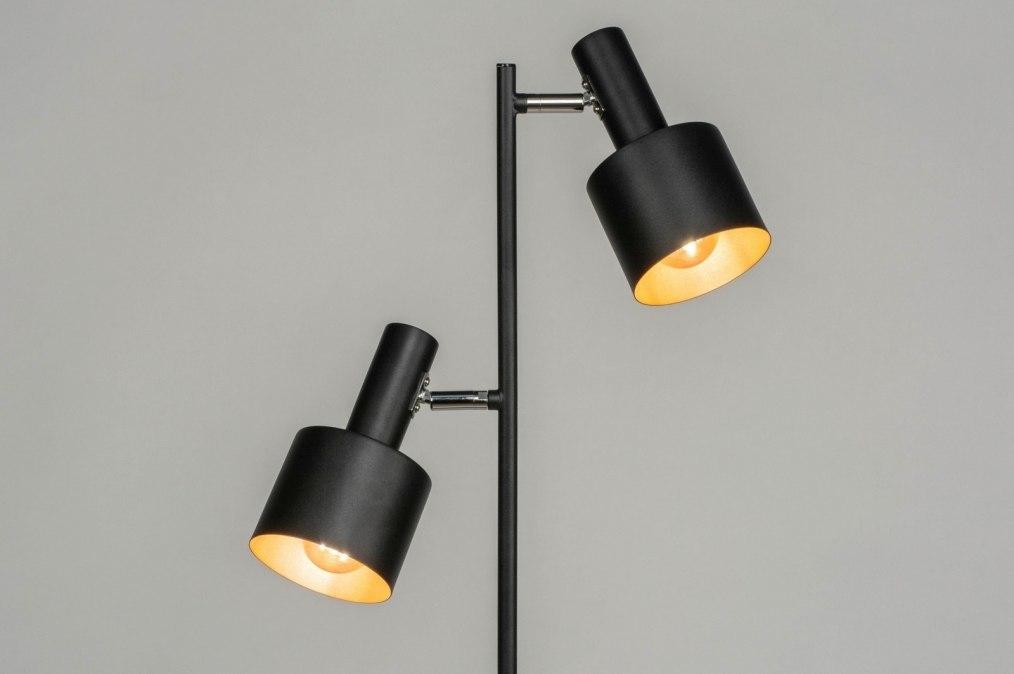 Vloerlamp 11664: modern, retro, metaal, zwart #0