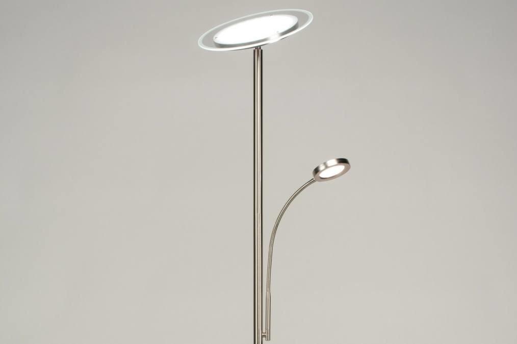 Vloerlamp 11726: modern, staal rvs, metaal, staalgrijs #0