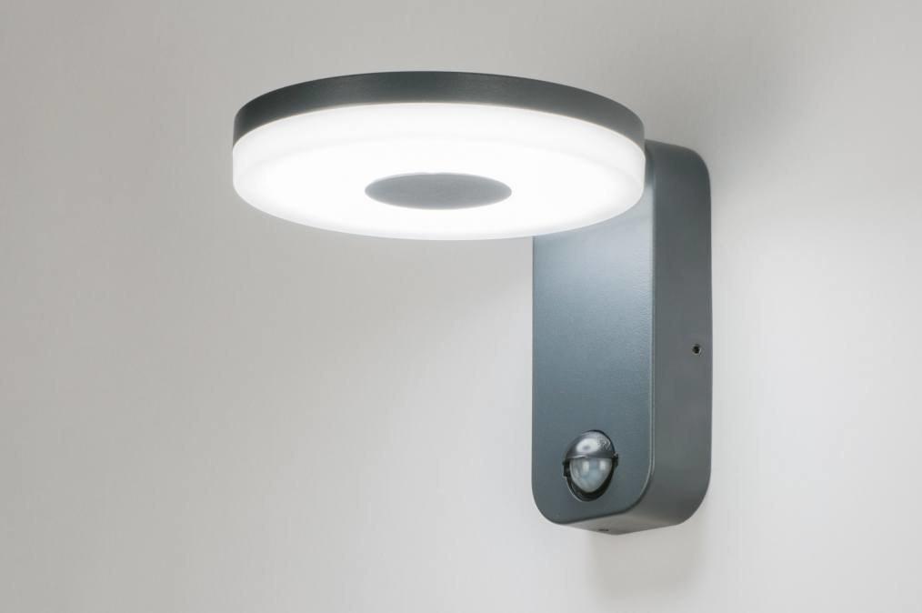 Wandlamp 11731: modern, design, antraciet donkergrijs, metaal #0