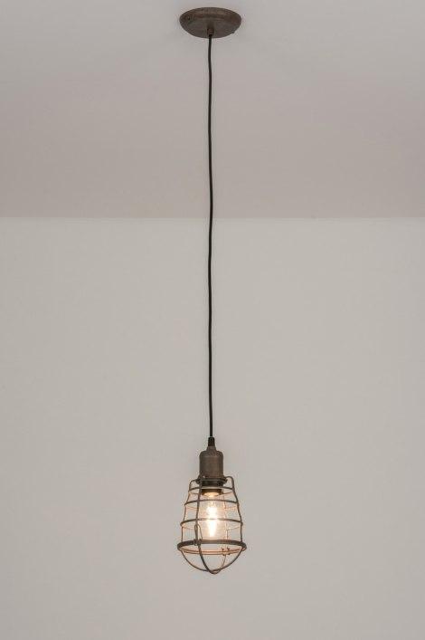 pendelleuchte 11739 modern industrielook coole lampen grob braun. Black Bedroom Furniture Sets. Home Design Ideas