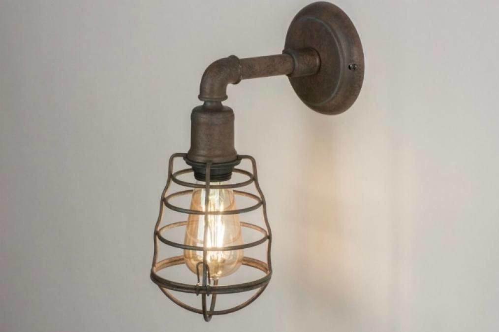 Wandlamp 11740: industrie, look, landelijk, rustiek #0