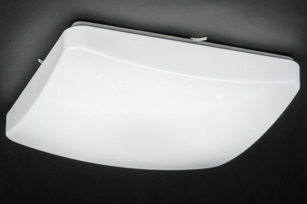 Plafondlamp 11756: modern, eigentijds klassiek, wit, kunststof #0