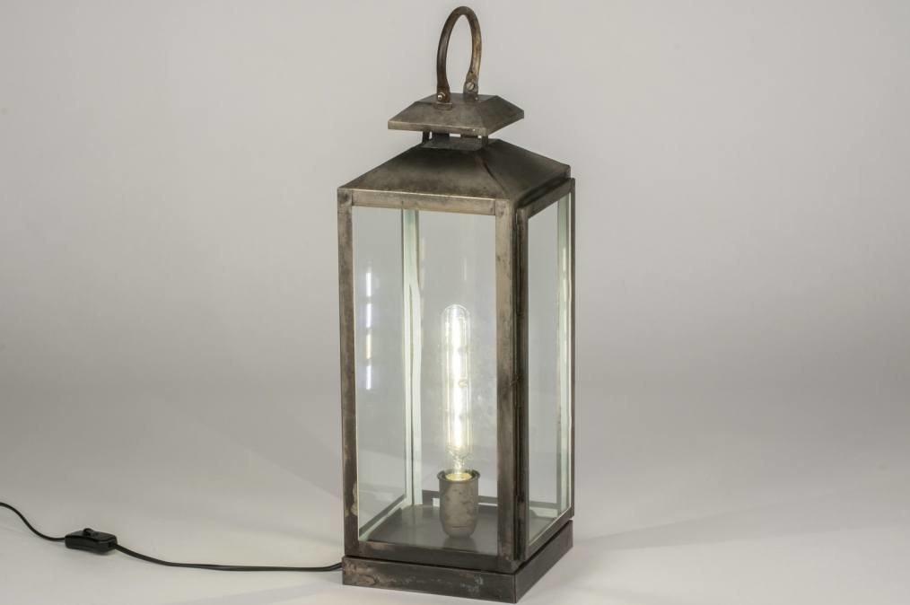 Tafellamp 11800: landelijk, rustiek, stoer, raw #0