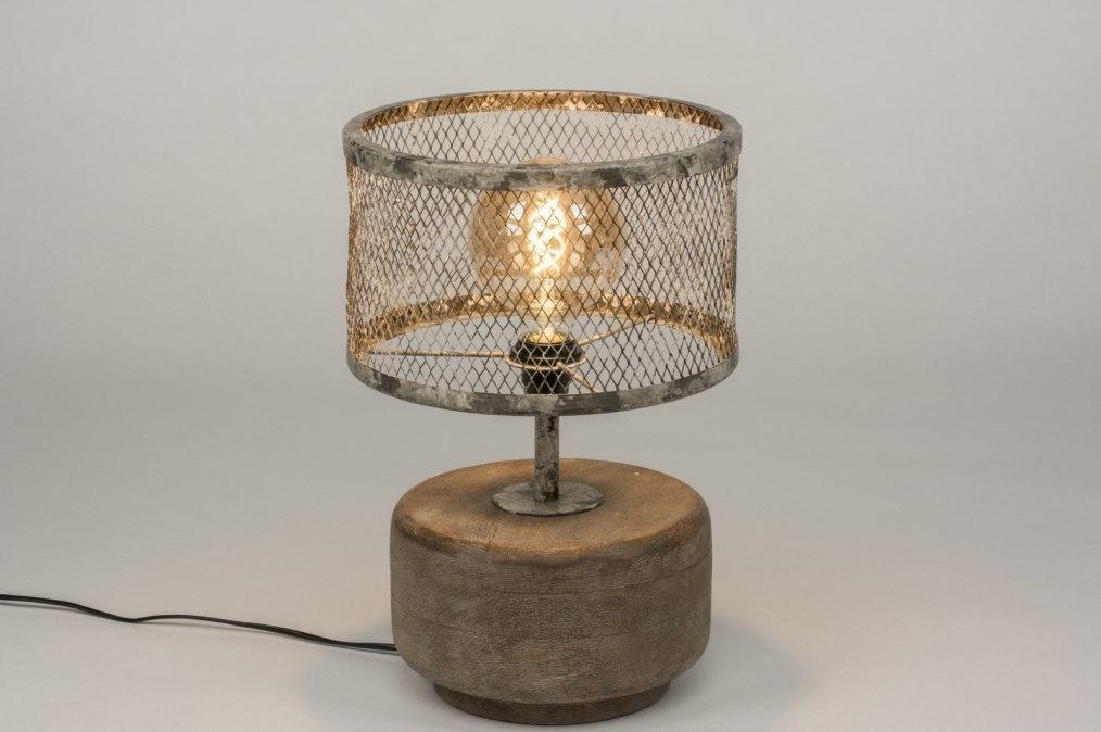 Tafellamp 11801: landelijk, rustiek, stoer, raw #0
