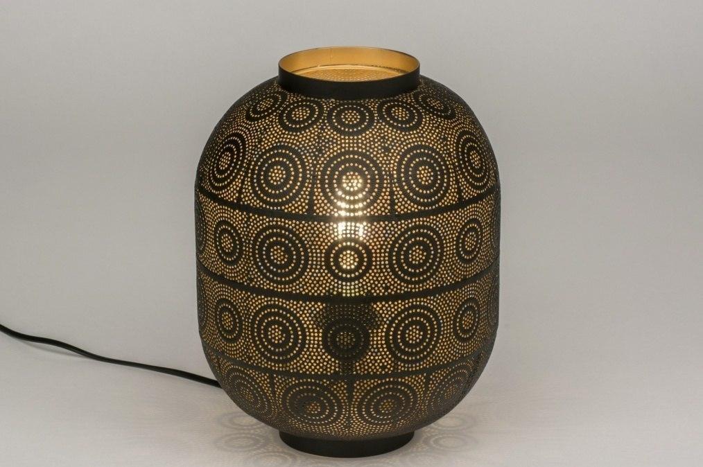 Tafellamp 11862: landelijk rustiek, modern, eigentijds klassiek, metaal #0