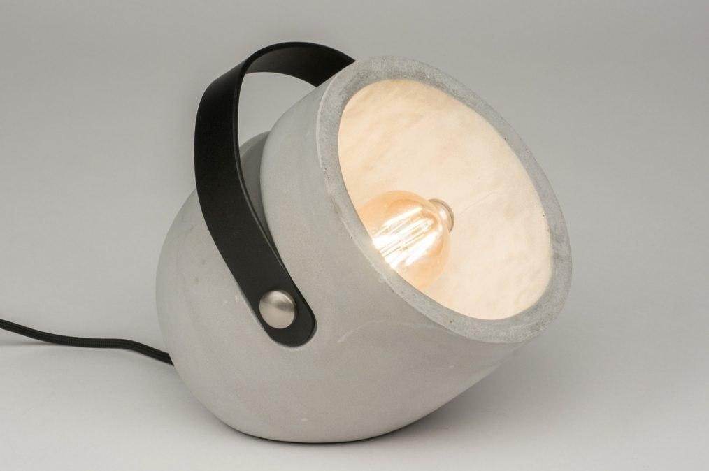 Tafellamp 11865: modern, stoer, raw, betongrijs #0