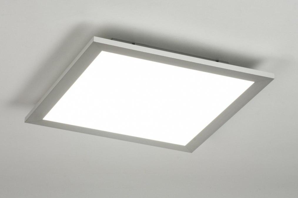plafondlamp 11875 modern zilvergrijs kunststof metaal. Black Bedroom Furniture Sets. Home Design Ideas