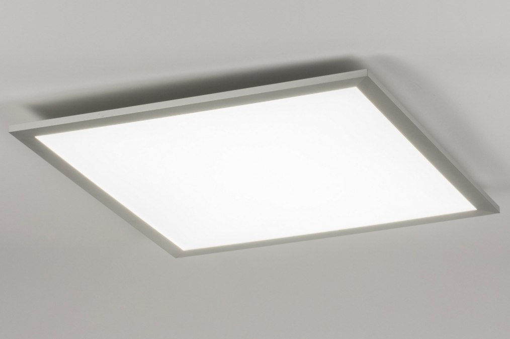 Plafondlamp 11876: modern, zilvergrijs, kunststof, metaal #0