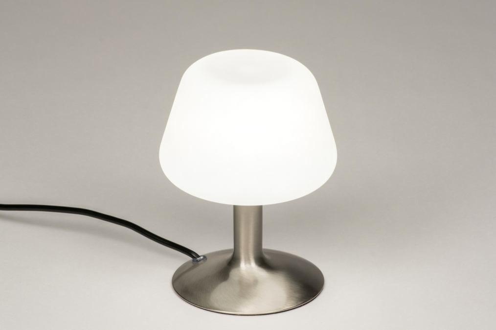 Tafellamp 11897: modern, retro, eigentijds klassiek, glas #0