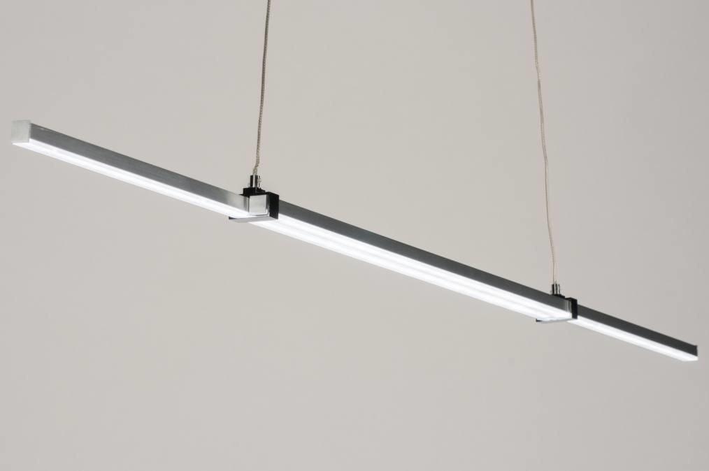 Hanglamp 11900: design, modern, aluminium, geschuurd aluminium #0