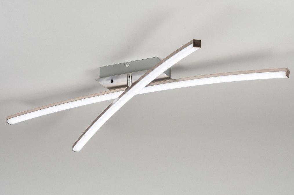 Plafondlamp 11926: modern, RGB multicolor, staalgrijs, kunststof #0