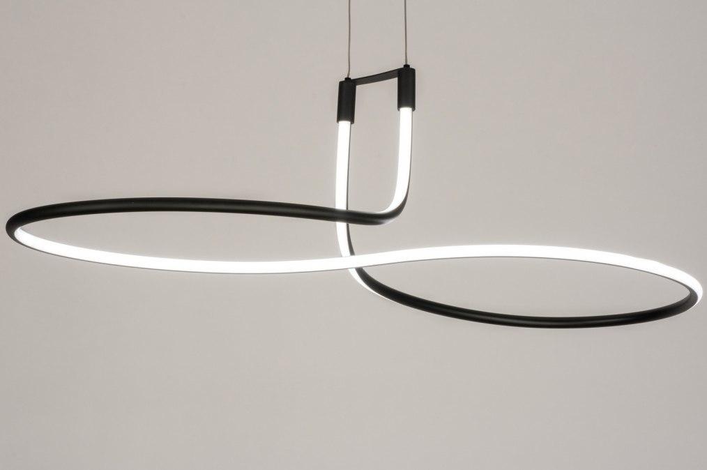 Hanglamp 11953: modern, zwart, mat, metaal #0